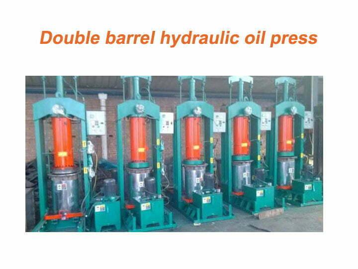 Double barrel hydraulic oil press machines