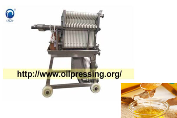 Edible oil plate filter