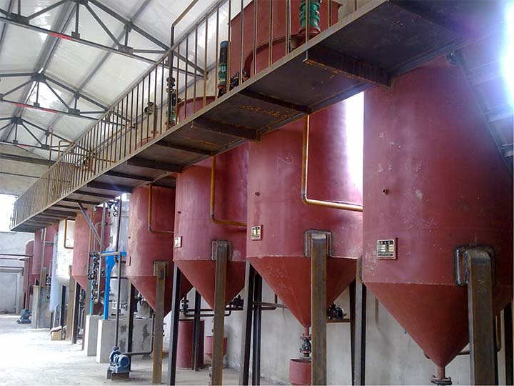 Large oil refinery equipment