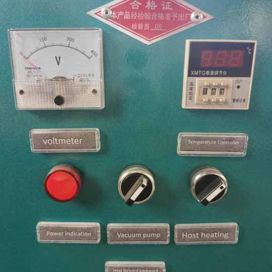 commercial screw oil press machine control panel