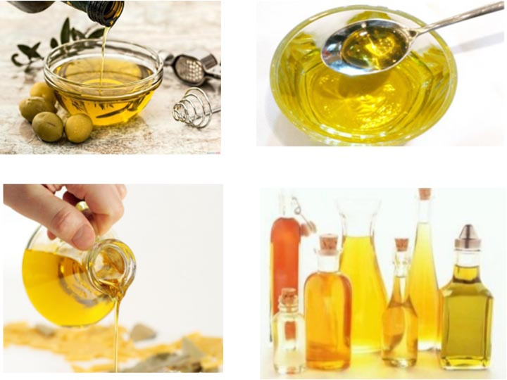 filtered edible oil of different kinds