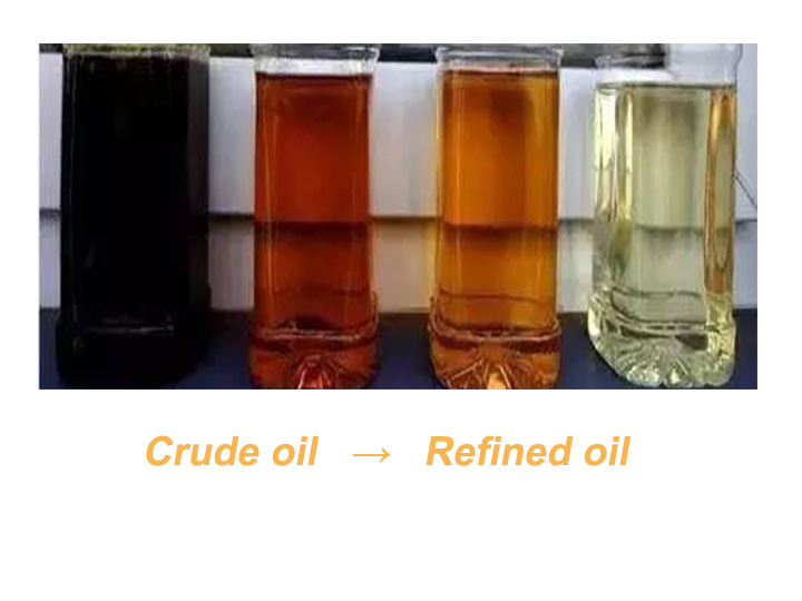 From crude oil to refined oil
