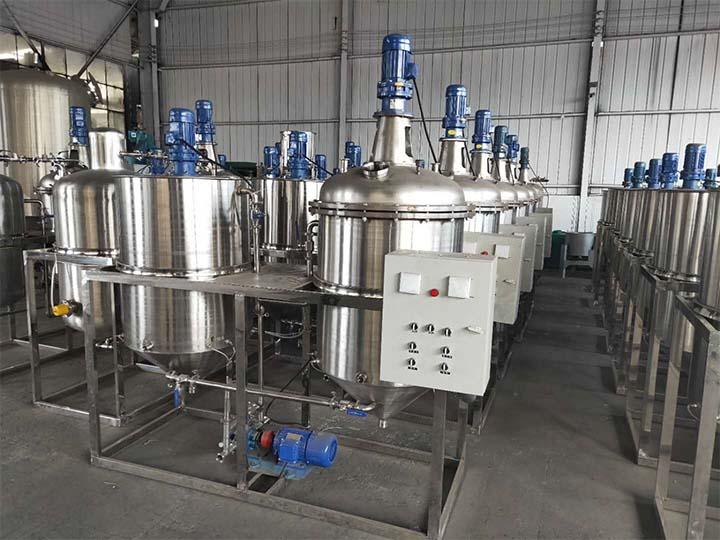 oil refinery equipment in storage