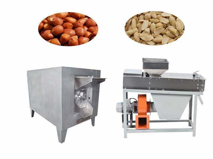 peanut roasting and peeling machine