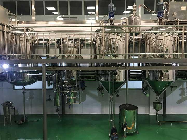 palm oil refinery machinery